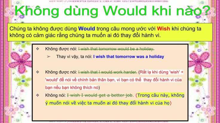 Câu mong ước với 'Wish'-10
