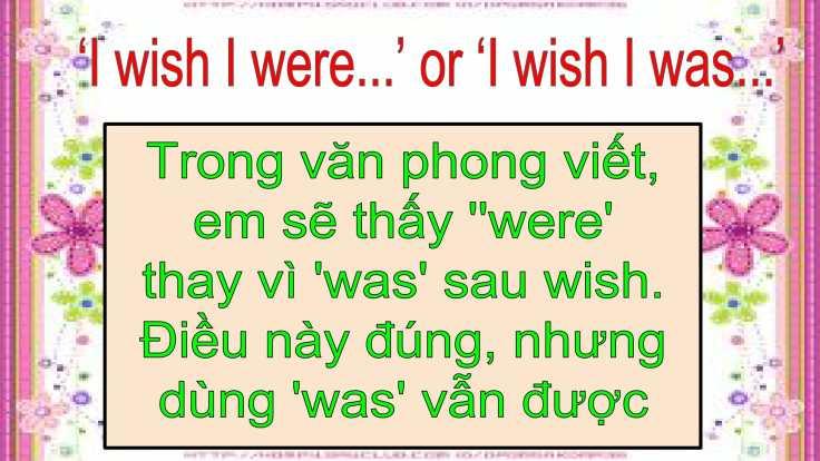 Câu mong ước với 'Wish'-12