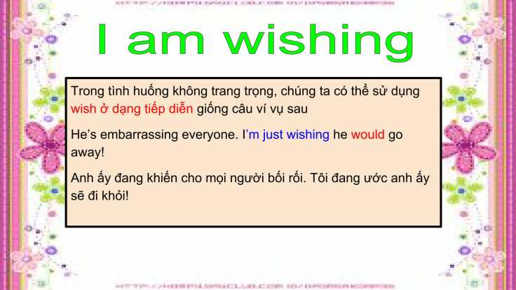Câu mong ước với 'Wish'-15