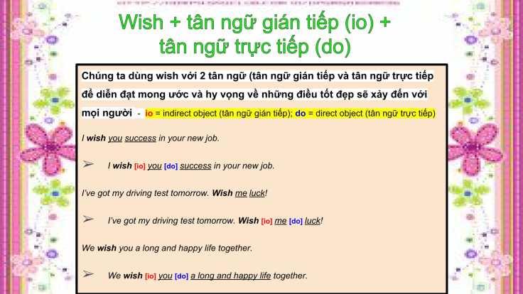 Câu mong ước với 'Wish'-17